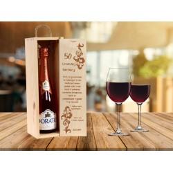 Grawerowana skrzynka na wino